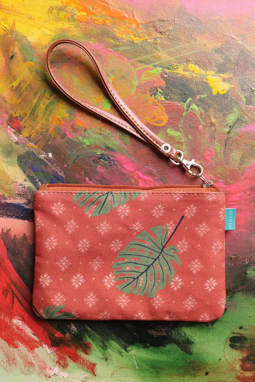 Bolsa de mão com Alça Estampada Selva Laranja