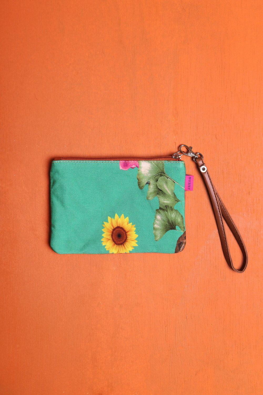 Bolsa de mão com Alça Estampada Verde