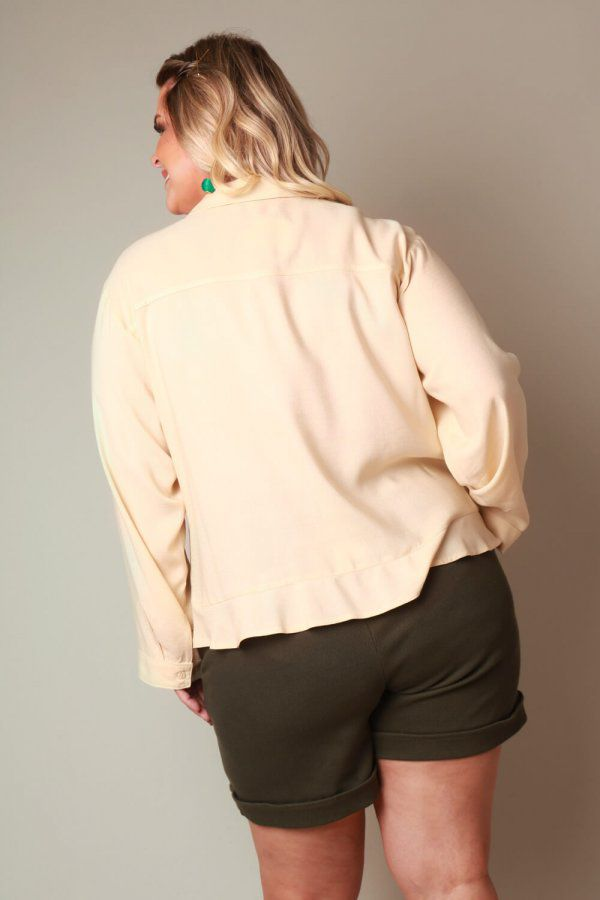 CAMISA PLUS SIZE OFF WHITE