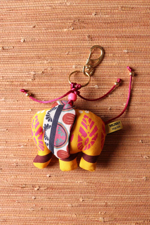 Chaveiro Elefantinho Multicolorido Amarelo