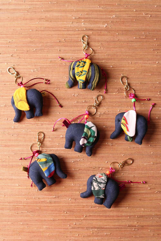Chaveiro Elefantinho Multicolorido Azul