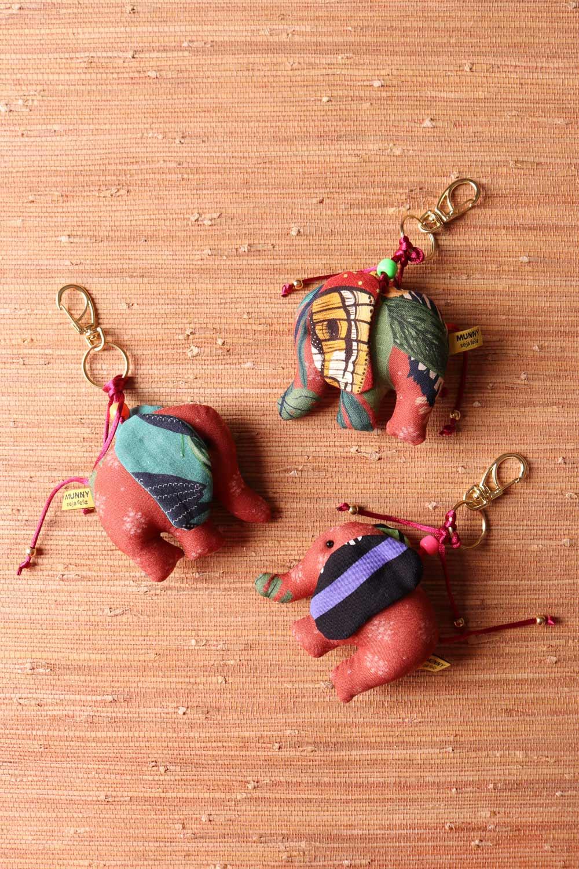 Chaveiro Elefantinho Multicolorido  Marrom