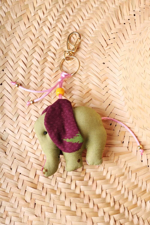 Chaveiro Elefantinho Multicolorido Verde