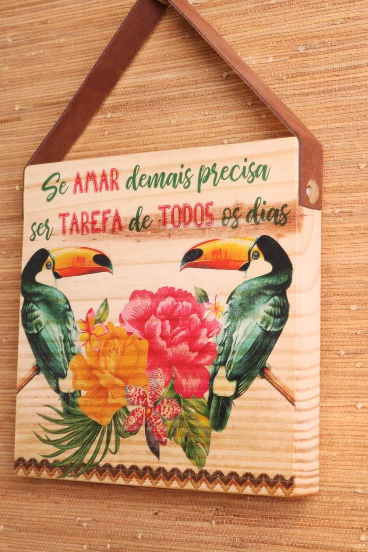 DECORATIVO DE MADEIRA TUCANOS