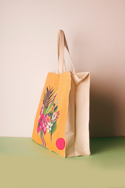 Ecobag Estampada Inspire-se Amarela