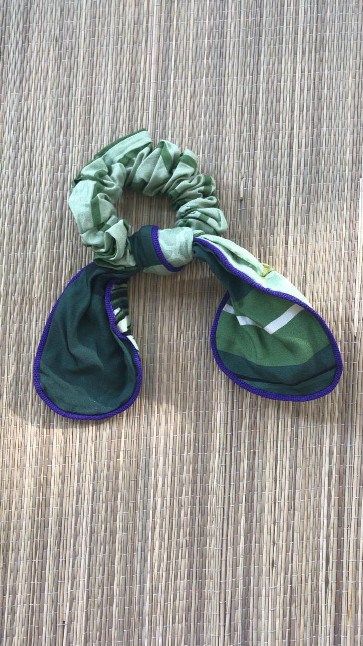 Frufru com Nó Estampado Verde