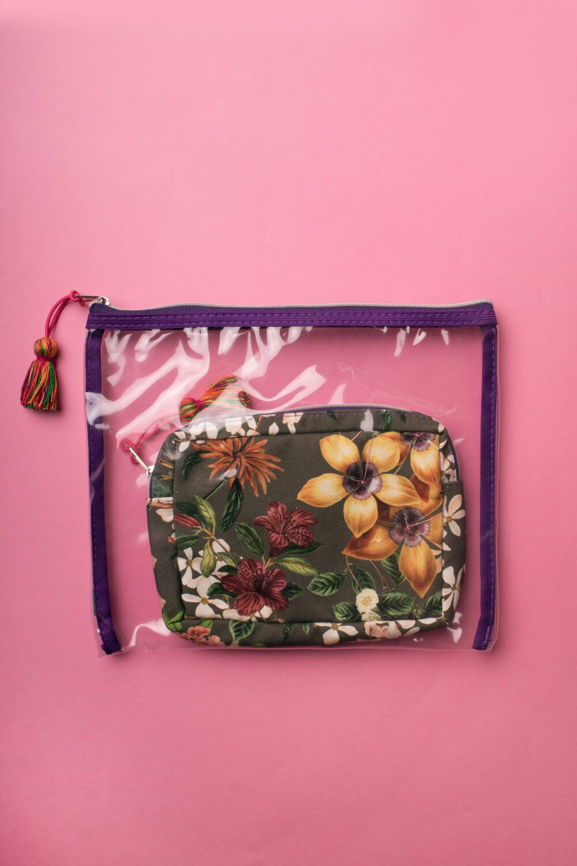 Kit Necessaire Estampada Floral Decô Militar