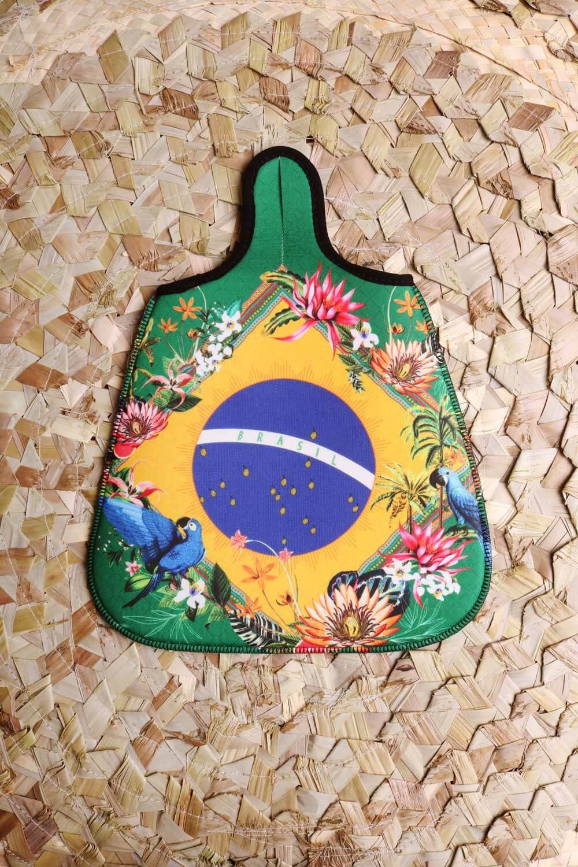 Lixeira de Carro Estampada Brasil