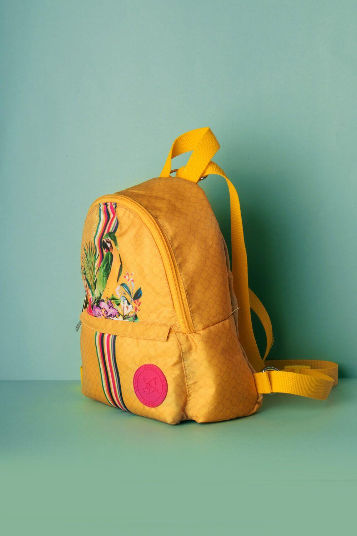 Mini Mochila Estampada Inspire-se Amarela