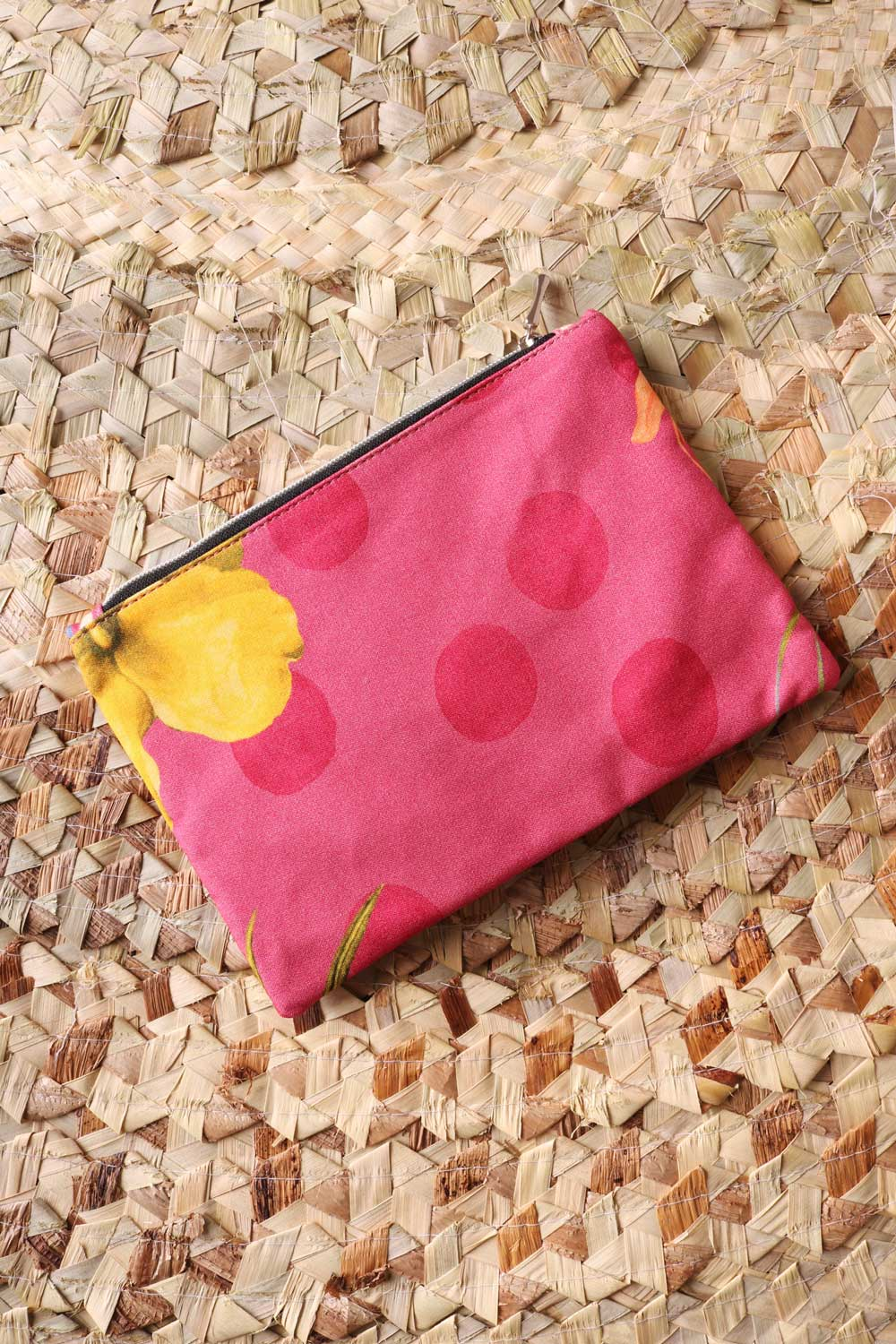 Necessaire Estampada Degradê Coral
