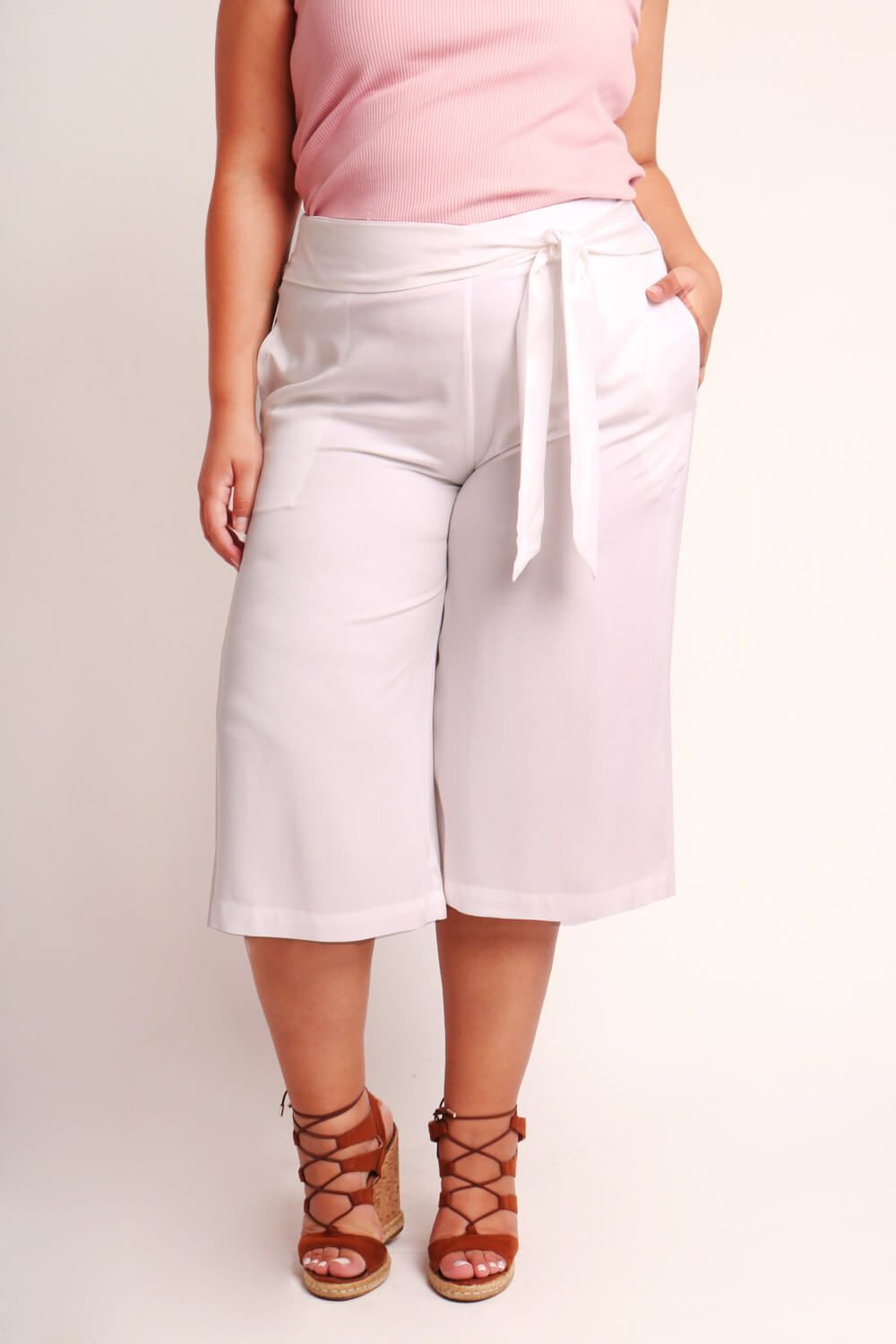PANTACOURT PLUS SIZE LISA BRANCA