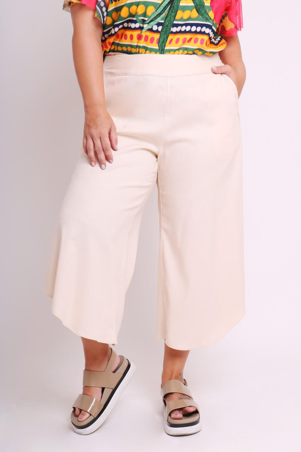 PANTACOURT PLUS SIZE LISA OFF WHITE