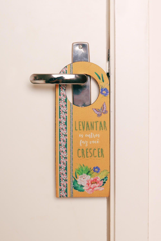 Placa de Porta Estampada Aquaflor