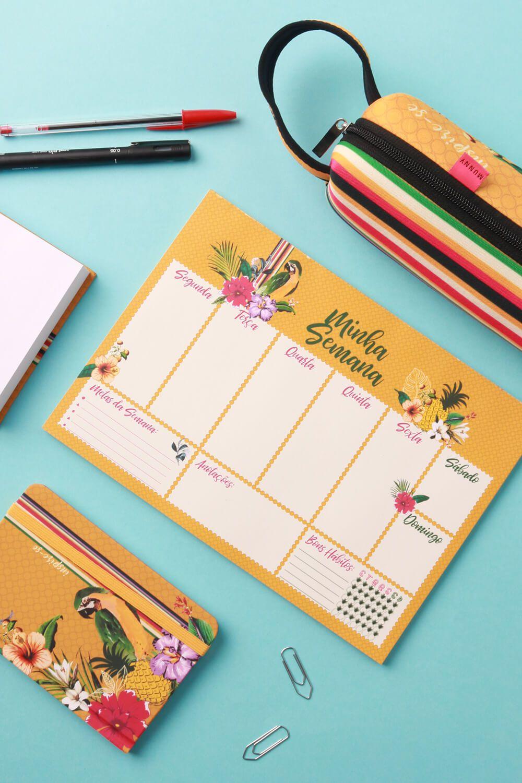 Planner Estampado Inspire-se Amarelo