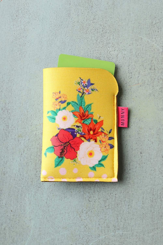 Porta Cartão Estampado Floral Confete Lima