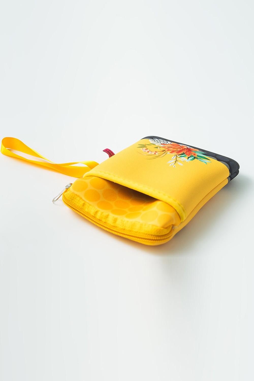 Porta Celular Estampado Inspire-se Amarelo