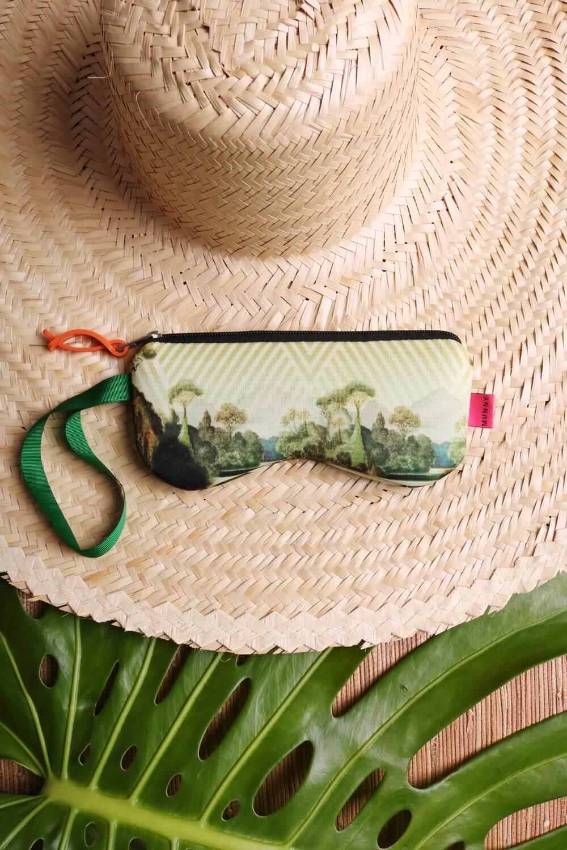 Porta Óculos Estampado Verde