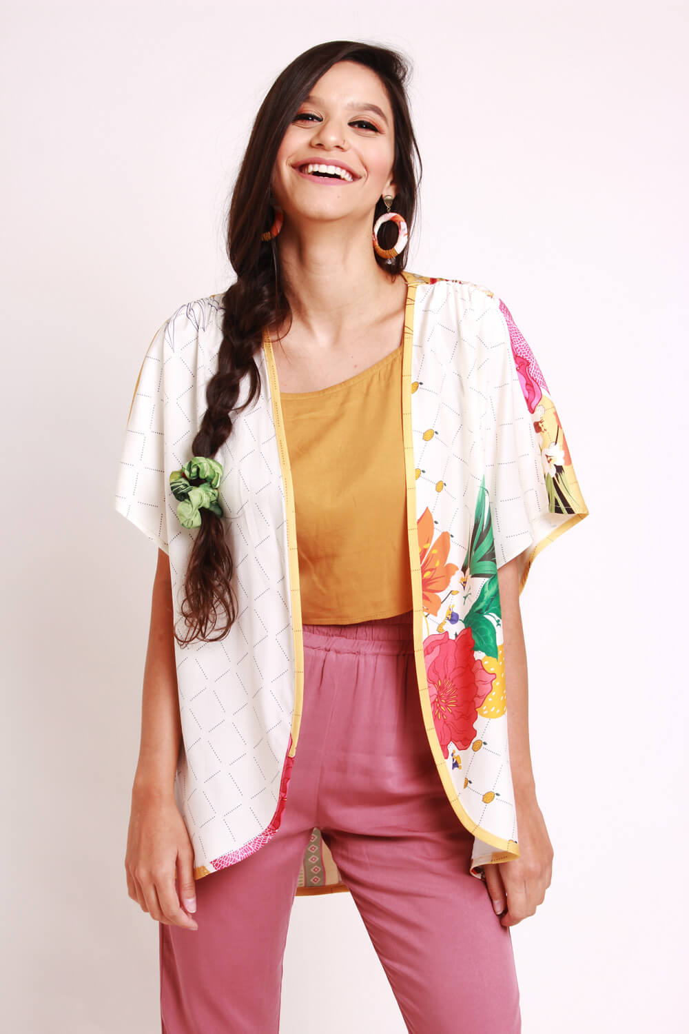 RE-VIVA KIMONO ESTAMPADO RE-VIVA OFF WHITE