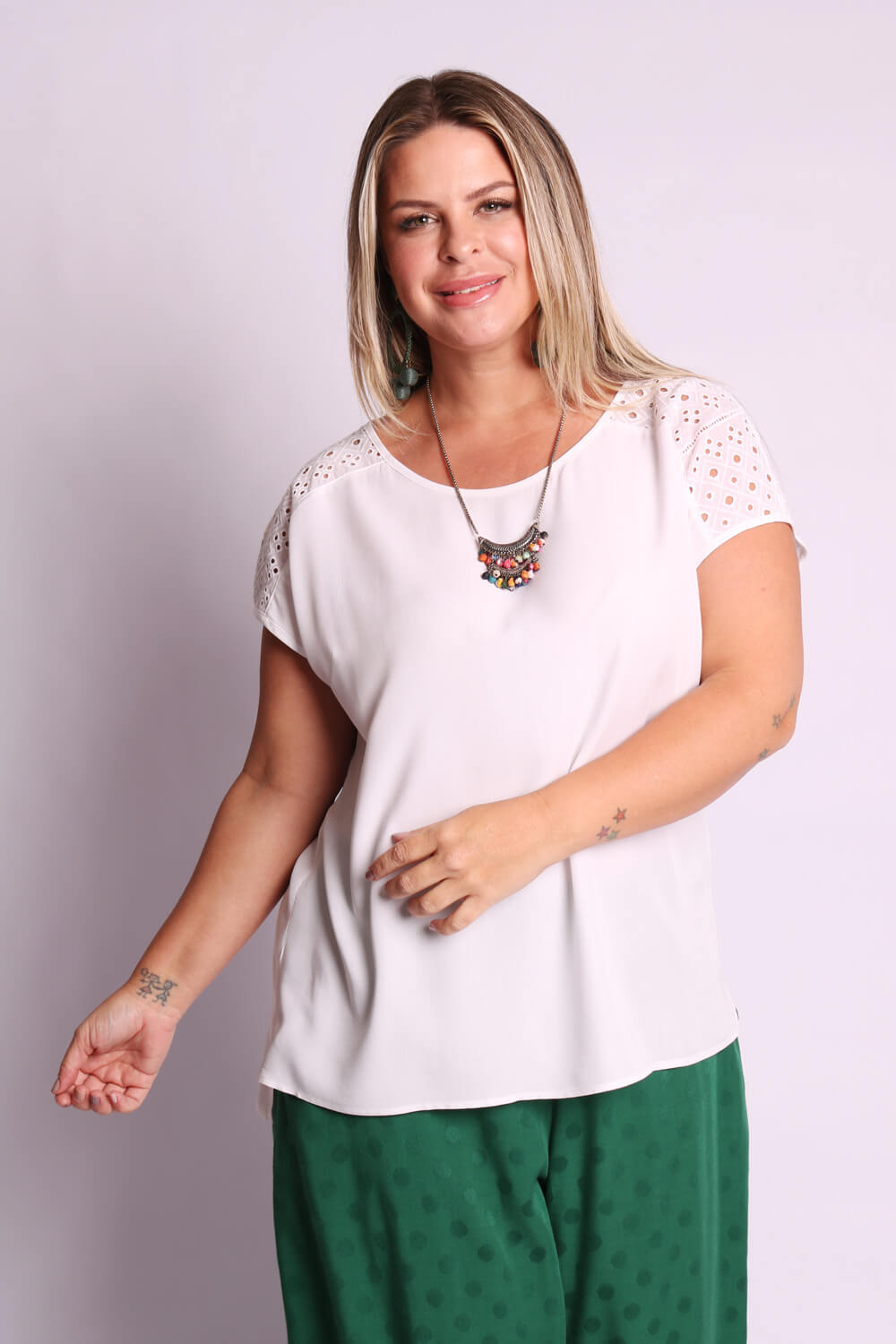 REGATA LISA  PLUS SIZE MIX LAISE BRANCA