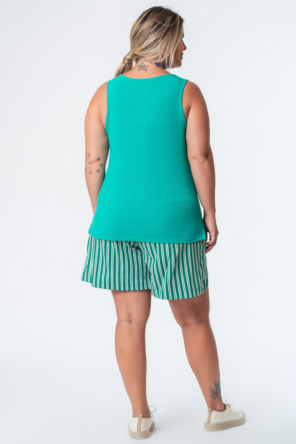 REGATA LISA PLUS SIZE RIB VERDE
