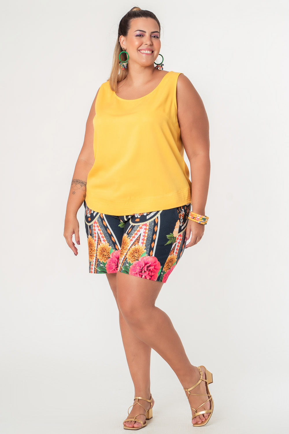 REGATA LISA TWILL PLUS SIZE AMARELA