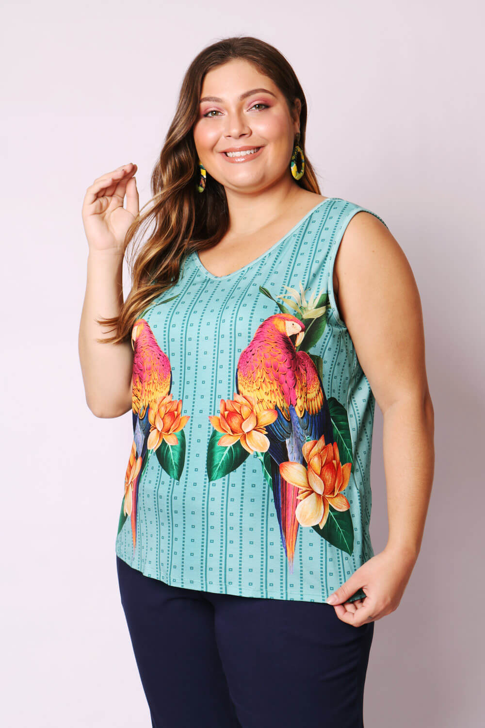 REGATA PLUS SIZE ARARA REAL AZUL