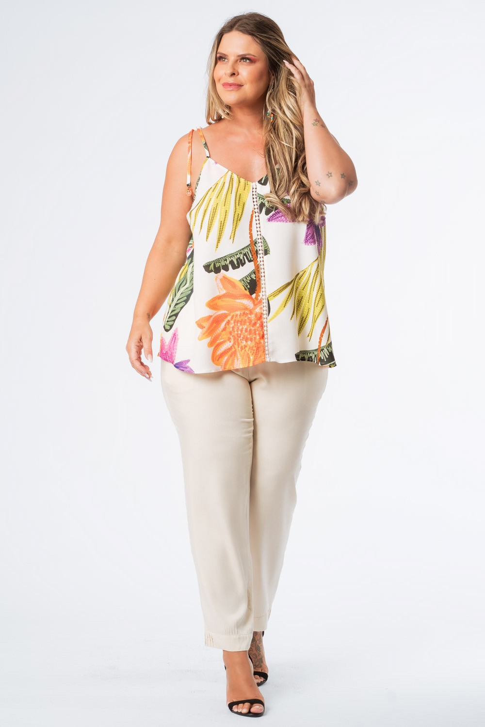 REGATA PLUS SIZE FRUTACOR OFFWHITE