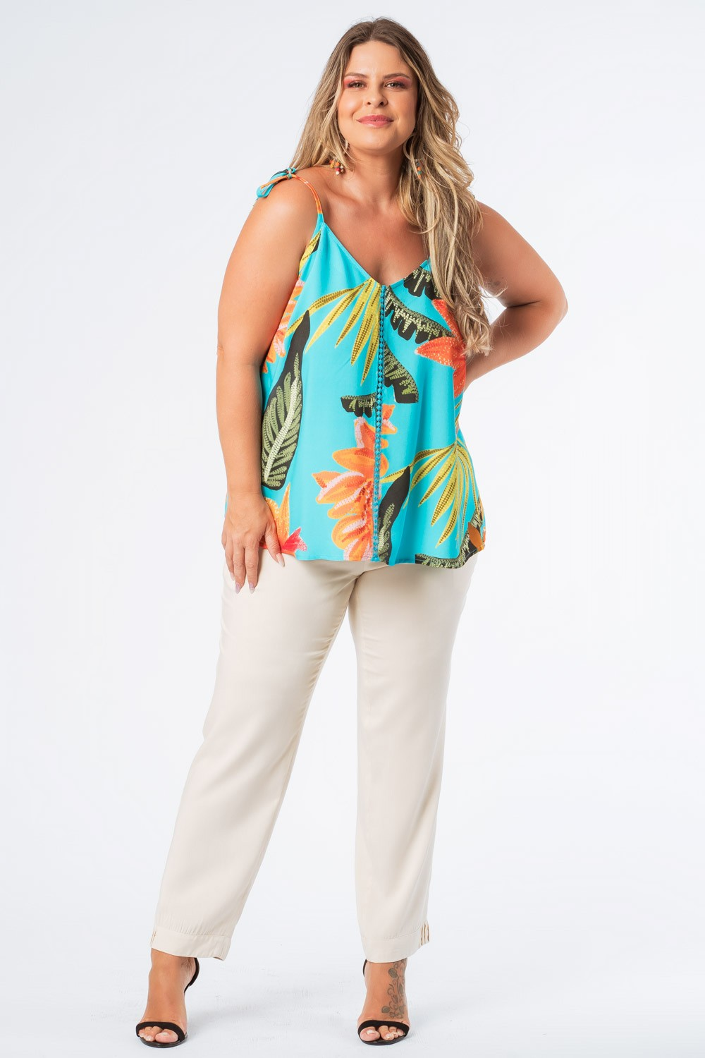 REGATA PLUS SIZE FRUTACOR TURQUESA