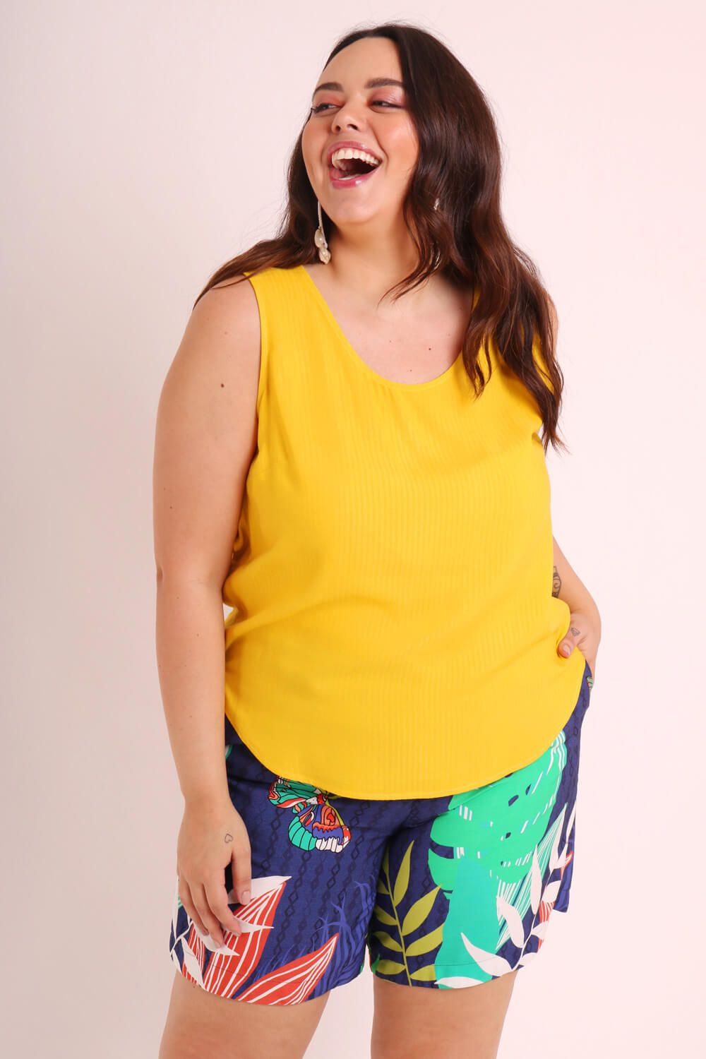REGATA PLUS SIZE LISA AMARELA