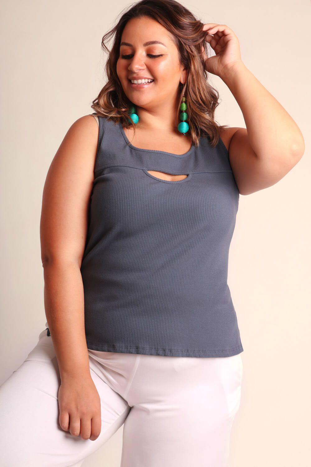 REGATA PLUS SIZE LISA CINZA