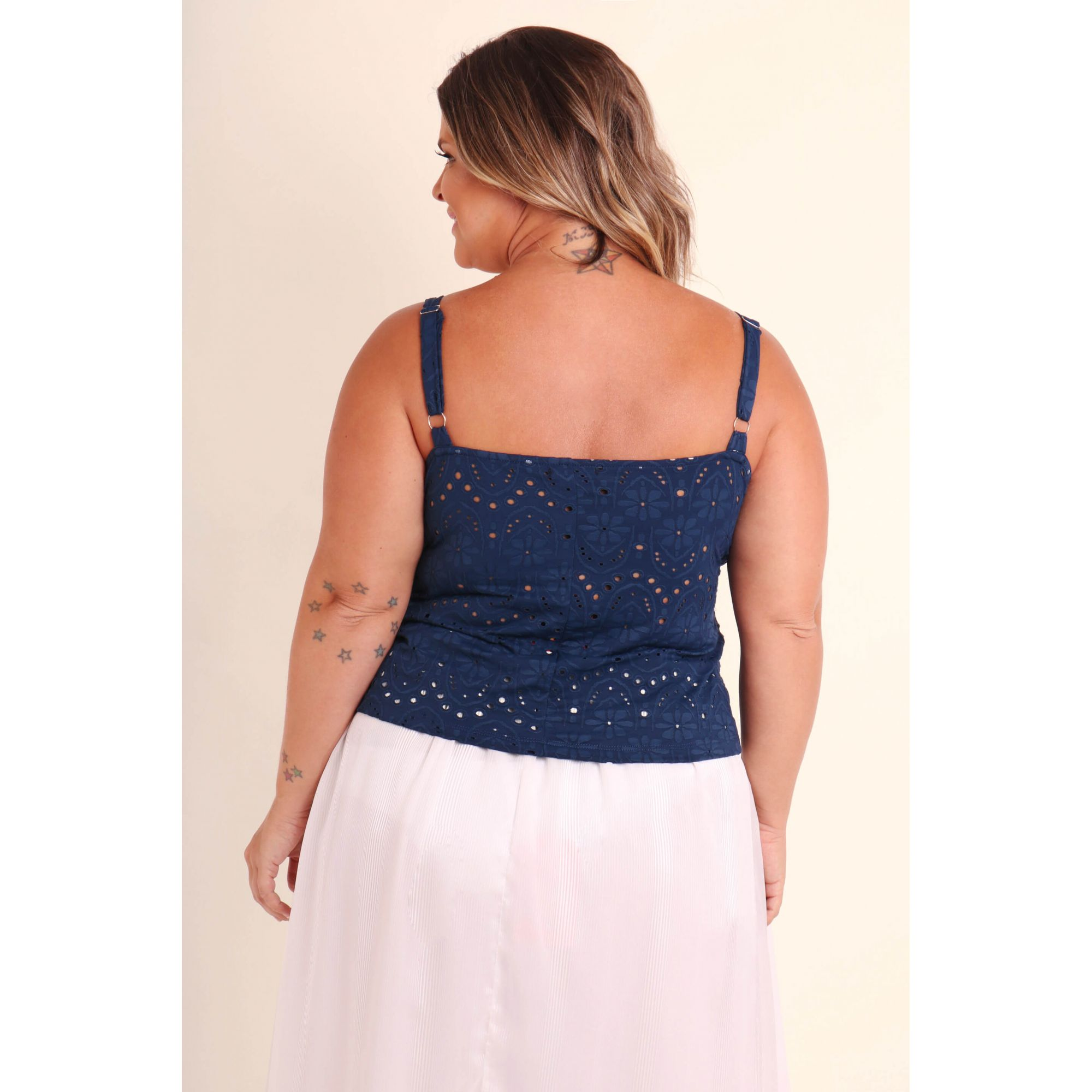 REGATA PLUS SIZE LISA AZUL