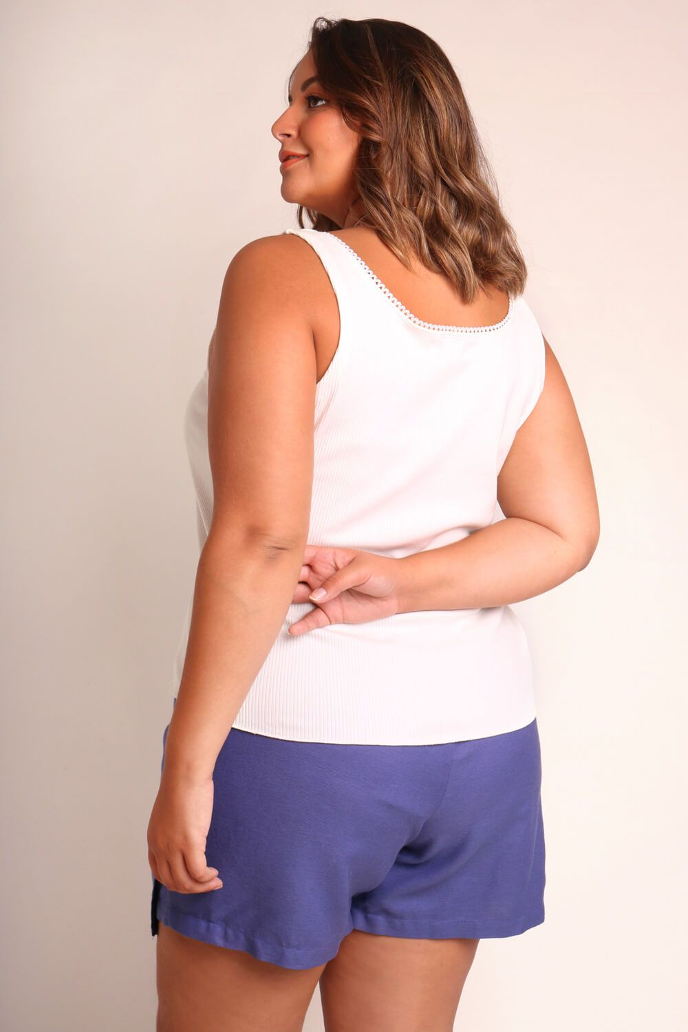 REGATA PLUS SIZE LISA BRANCA