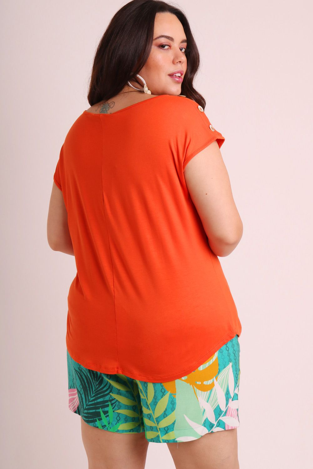 REGATA PLUS SIZE LISA LARANJA