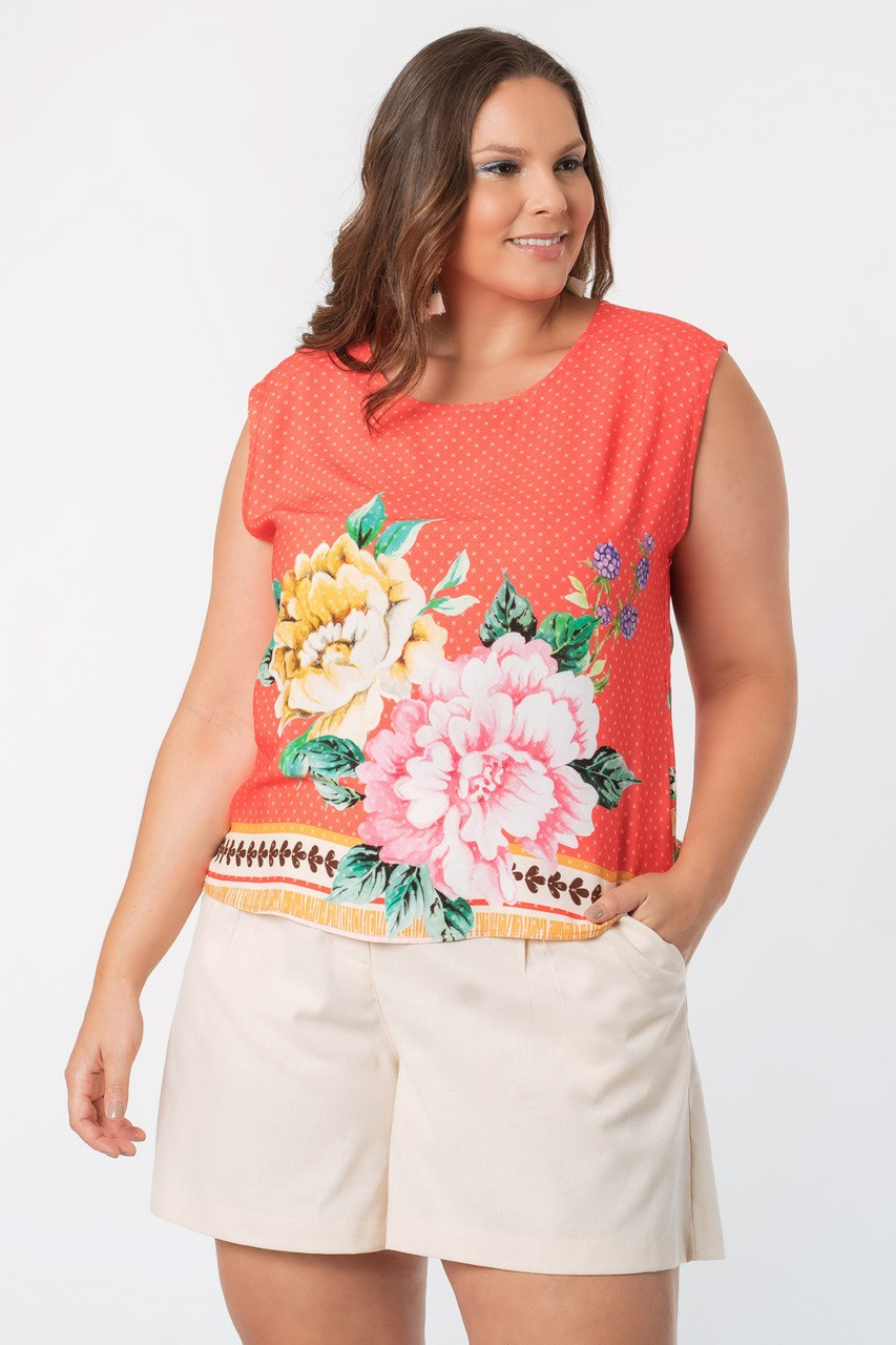 REGATA ESTAMPADA PLUS SIZE ROMANCE
