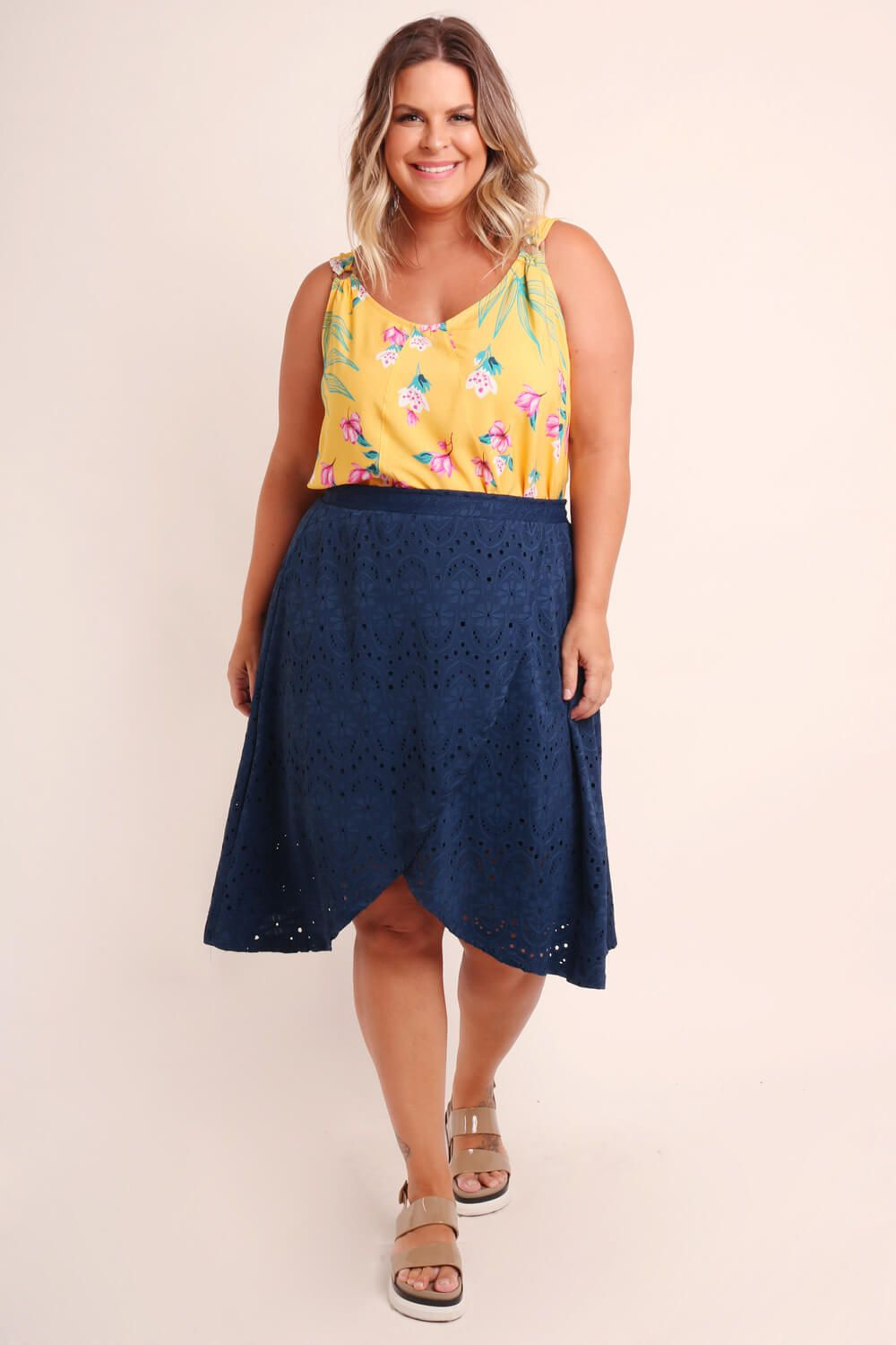 SAIA PLUS SIZE LISA AZUL