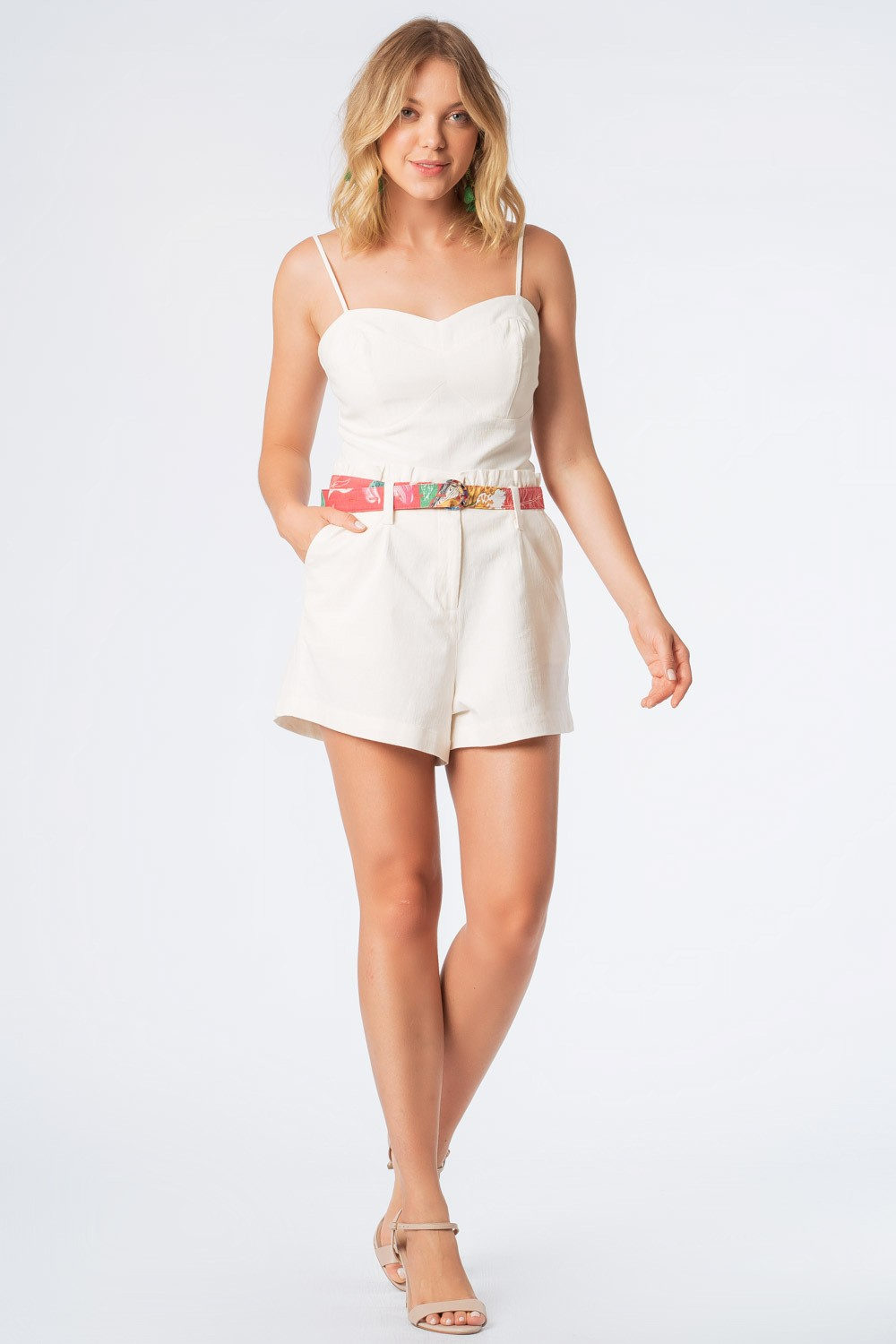 SHORTS CLOCHARD LINHO OFF WHITE
