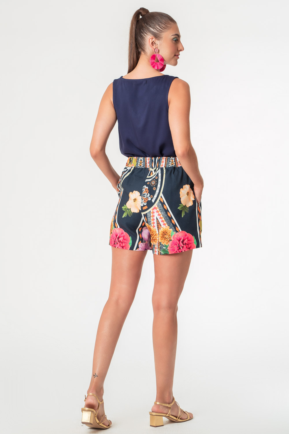 SHORTS ESTAMPADO ETNIX AZUL