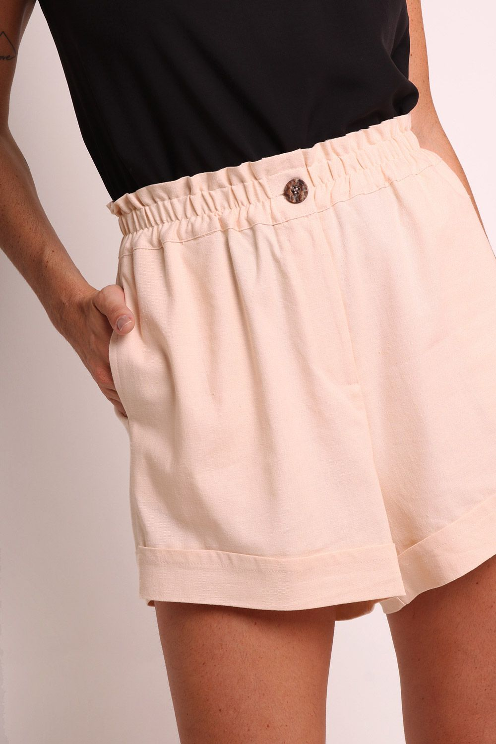 SHORTS LISO OFF WHITE