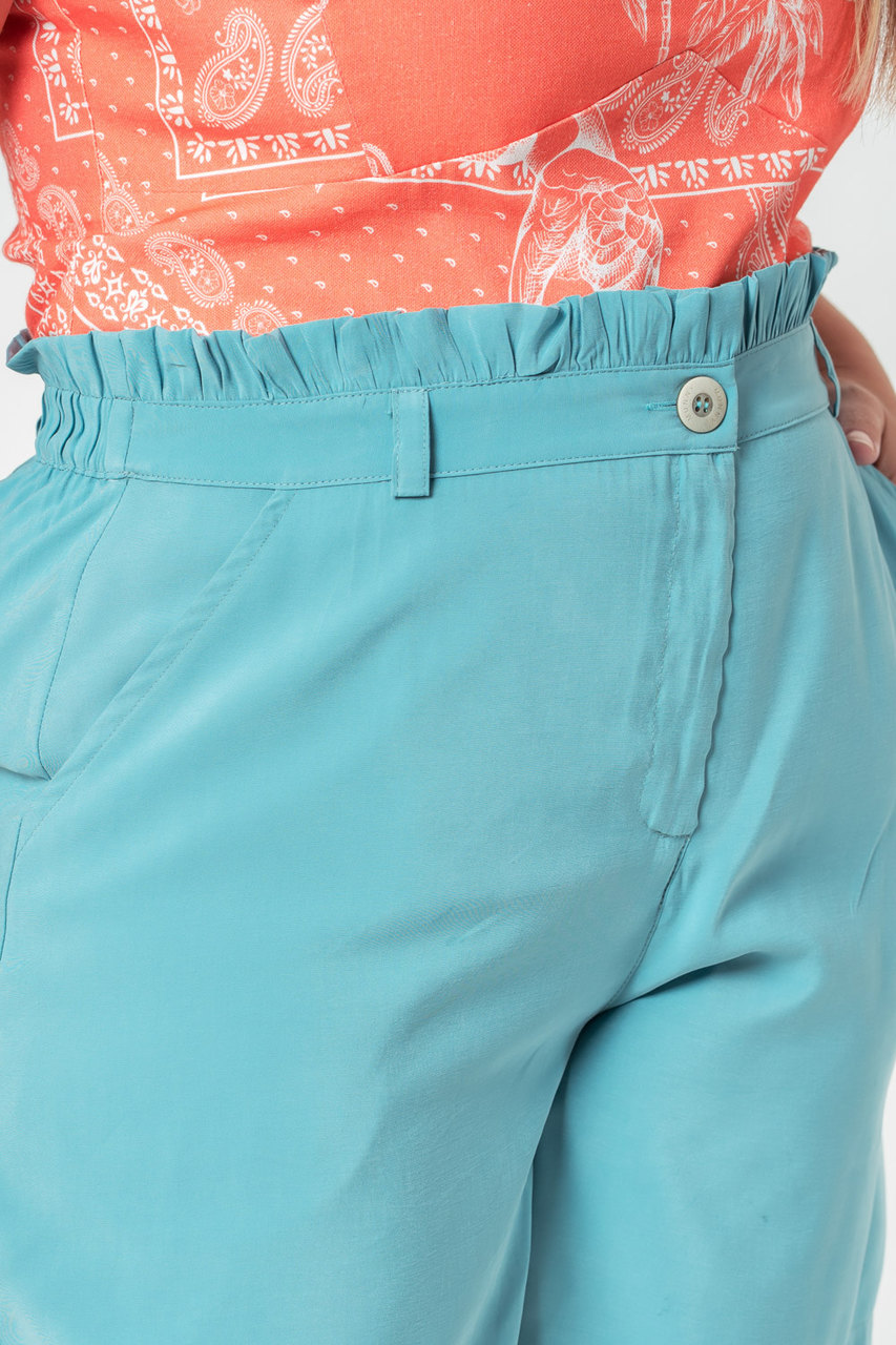 SHORTS LISO PLUS SIZE AZUL