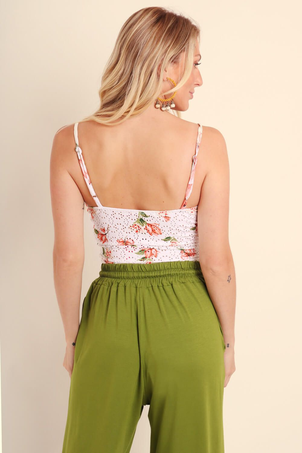 TOP ESTAMPADO MAXI FLORAL OFF WHITE