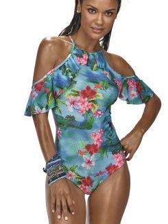Maiô de Praia Floral DeMillus 98139
