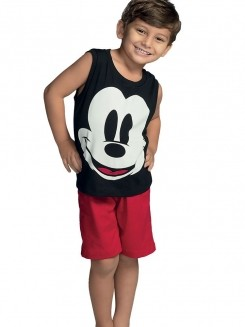 Pijama Curto Infantil Kid Mickey DeMillus 220930