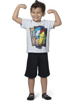 Pijama Curto Infantil Kid Os Vingadores DeMillus 220212