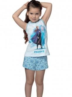 Pijama Curto Infantil Shortdoll Frozen II DeMillus 220255
