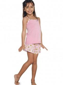 Pijama Curto Infantil Shortdoll Menina Amizade DeMillus 220839