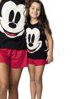 Pijama Curto Infantil Shortdoll Menina Mickey DeMillus 220929
