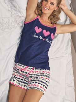 Pijama Curto Short Doll Pointelle DeMillus 20122