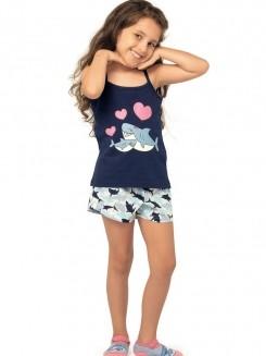 Pijama Infantil Curto Shortdoll Menina Arazul DeMillus 220233