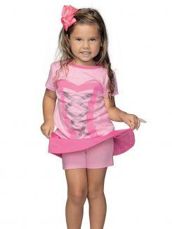 Pijama Infantil Curto Shortdoll Menina Dengosa DeMillus 20009