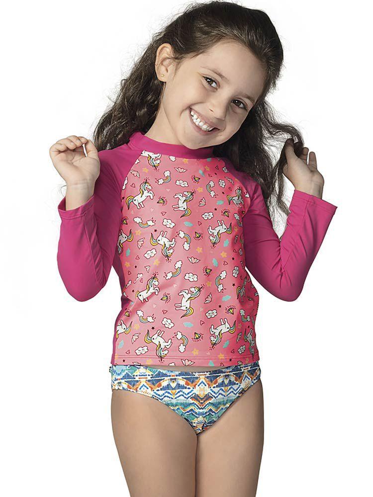 Blusa Infantil Estampada UV DeMillus 93019